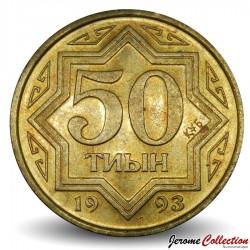 KAZAKHSTAN - PIECE de 50 Tyin - 1993 Km#5