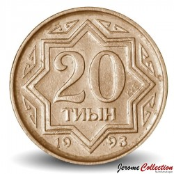 KAZAKHSTAN - PIECE de 20 Tyin - 1993 Km#4a
