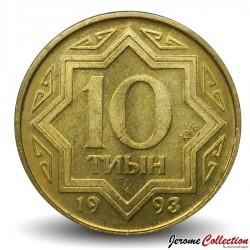 KAZAKHSTAN - PIECE de 10 Tyin - 1993 Km#3
