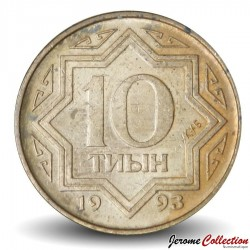 KAZAKHSTAN - PIECE de 10 Tyin - 1993 Km#3a