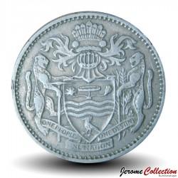 GUYANA - PIECE de 25 Cents - Oiseau Hoatzin - 1967