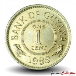 GUYANA - PIECE de 1 Cent - Oiseau Hoatzin - 1989 Km#31