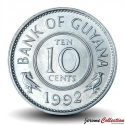 GUYANA - PIECE de 10 Cents - Oiseau Hoatzin - 1992 Km#33