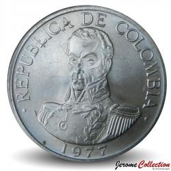 COLOMBIE - PIECE de 1 Peso - Simon Bolivar - 1977 Km#258.1