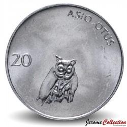 SLOVENIE - PIECE de 20 stotinov - Hibou - 1992 Km#8