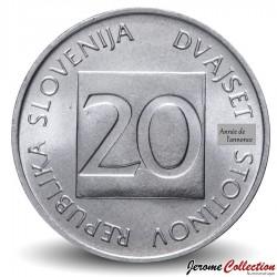 SLOVENIE - PIECE de 20 stotinov - Hibou - 1992