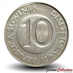 SLOVENIE - PIECE de 10 Tolarjev - Cheval cabré - 2000