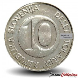 SLOVENIE - PIECE de 10 Tolarjev - Cheval cabré - 2004