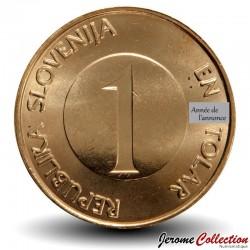 SLOVENIE - PIECE de 1 Tolar - Truite brune - 1999