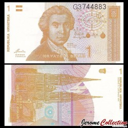 CROATIE - BILLET de 1 Dinar - 1991 P16a