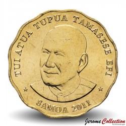 SAMOA - PIECE de 2 Tala - Tui-Atua Tupua Tamasese Efi - 2011 Km#178