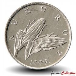CROATIE - PIECE de 1 Lipa - épis de maïs - 1999 Km#3