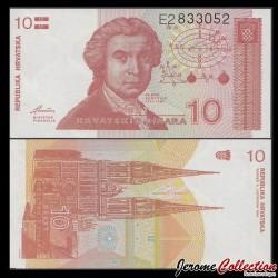 CROATIE - BILLET de 10 Dinars - 1991