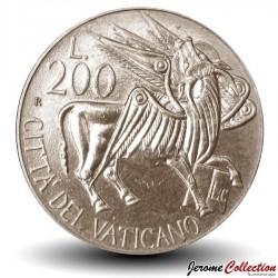 VATICAN - PIECE de 200 Lires - Boeuf Ailé - 1985 Km#189