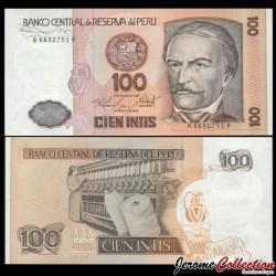 PEROU - Billet de 100 Intis - 06.03.1986 P132b