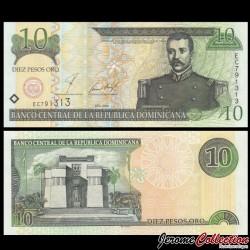 REPUBLIQUE DOMINICAINE - Billet de 10 PESOS ORO - 2001 P168a