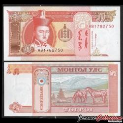MONGOLIE - Billet de 5 Tögrög - Chevaux - 1993 P53a
