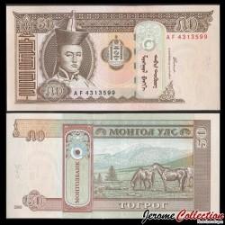 MONGOLIE - Billet de 50 Tögrög - 2000 P64a