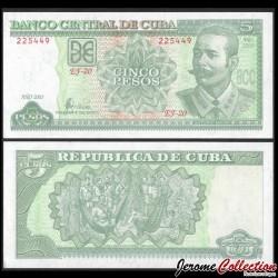 CUBA - Billet de 5 Pesos - Antonio Maceo - 2003 P116f