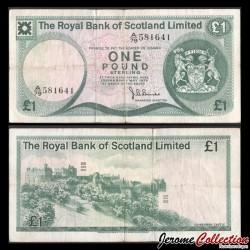 ECOSSE / The Royal Bank of Scotland - Billet de 1 Pound Sterling - Château d'Édimbourg - 1975 P336a.4