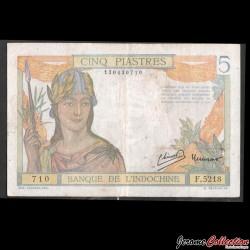 INDOCHINE FRANCAISE - Billet de 5 Piastres - 1949 P55d