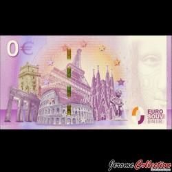 BILLET TOURISTIQUE - ZERO 0 EURO - FRANCE - Chateau Royal d'Amboise - 500 Ans de la mort de Leonard de Vinci - 2019