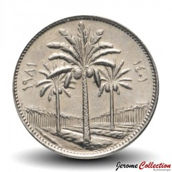 IRAK - PIECE de 25 Fils - Cocotiers - 1981