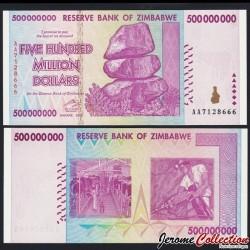 ZIMBABWE - Billet de 500000000 DOLLARS - 2008 P82a