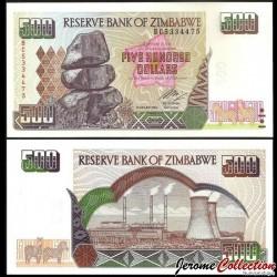 ZIMBABWE - Billet de 500 DOLLARS - 2004 P11b