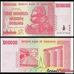 ZIMBABWE - Billet de 100 000 000 DOLLARS - 2008 P80a
