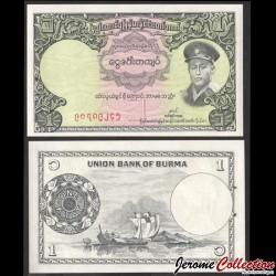 MYANMAR (ex-Birmanie) - Billet de 1 Kyat - Général Aung San - 1958 P46a