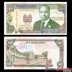KENYA - Billet de 10 Shillings - 01.07.1993 P24e