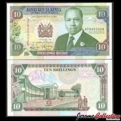 KENYA - Billet de 10 Shillings - 02.01.1992 P24d