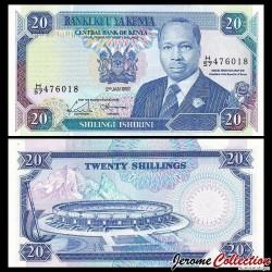 KENYA - Billet de 20 Shillings - Complexe sportif international - 02.01.1992 P25e