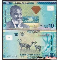 NAMIBIE - Billet de 10 Dollars - Springbok - 2013