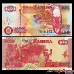 ZAMBIE - Billet de 50 Kwacha - Pygargue vocifer - 2007 P37f