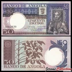 ANGOLA - Billet de 50 Escudos - Luiz de Camões - 1973 P105a