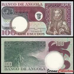 ANGOLA - Billet de 100 Escudos - Luiz de Camões - 1973 P106a