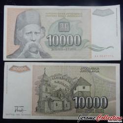 YOUGOSLAVIE - Billet de 10000 Dinara - Vuk Stefanović Karadžić - 1993 P129a