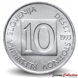 SLOVENIE - PIECE de 10 Stotinov - Proteus / Salamandre - 1993