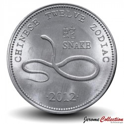 SOMALILAND - PIECE de 10 Shillings - Signe du Zodiaque Chinois - Le serpent - 2012 Km#new