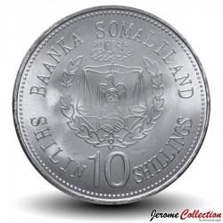 SOMALILAND - PIECE de 10 Shillings - Signe du Zodiaque Chinois - Le serpent - 2012