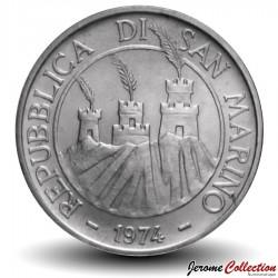 SAINT-MARIN - PIECE de 500 Lires (Argent) - 1974
