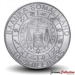 SOMALILAND - PIECE de 10 Shillings - Signe du Zodiaque - Verseau - 2012