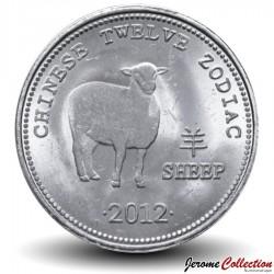 SOMALILAND - PIECE de 10 Shillings - Signe du Zodiaque Chinois - Le mouton - 2012 Km#new