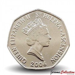 SAINTE-HÉLÈNE ET ASCENSION - PIECE de 50 Pence - Tortue verte de mer - 2006