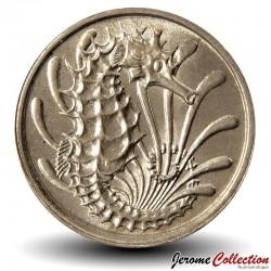 SINGAPOUR - PIECE de 10 Cents - Un hippocampe - 1980 Km#3