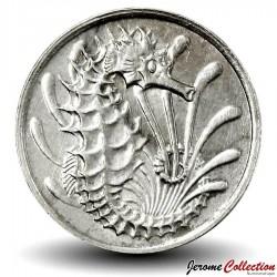 SINGAPOUR - PIECE de 10 Cents - Un hippocampe - 1968 Km#3