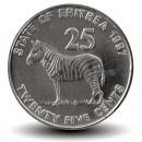 ERYTHREE - PIECE de 25 Cents - Zèbre - 1997