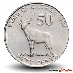 ERYTHREE - PIECE de 50 Cents - Gazelle - 1997 Km#47